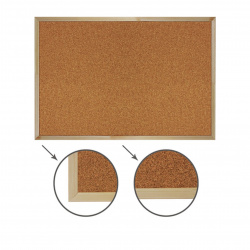 Доска пробковая А3 (30*40см) деревянная рамка Attomex 6030703