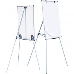Флипчарт А1, 60*90см, зажим для бумаг, рамка алюминиевая, на треноге, регулировка по высоте, двусторонняя, полочка для маркеров Attomex 6041002