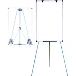Флипчарт А1, 70*100см, зажим для бумаг, рамка алюминиевая, на треноге, регулировка по высоте, двусторонняя, полочка для маркеров Attomex 6041003