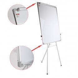 Флипчарт А1, 70*100см, зажим для бумаг, рамка алюминиевая, на треноге, регулировка по высоте, полочка для маркеров KLERK 200665-1