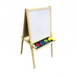 Доска магнитно-маркерная/меловая А0 (118*55*50см) деревянная рамка deVENTE 8071906 4 стакана-непроливайки+6 мелков+губка