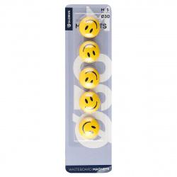 Магниты для досок 30мм 5шт Globus Smile МЦС30 желтые европодвес