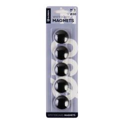 Магниты для досок 30мм 5шт Globus МЧ30 черные европодвес