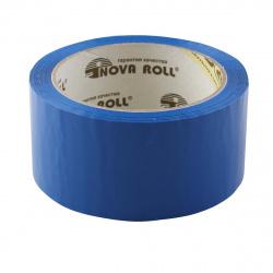 Лента упаковочная   50мм*66м, полипропилен, 45мкм, синий Nova Roll 204