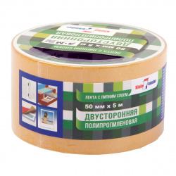 Лента двустор 50мм*5м полипроп КРР505Т/2829 (в индив упак)