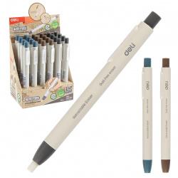 Ластик карандаш, 130*12*12мм, каучук, держатель пластиковый, ассорти 3 вида, цвет белый Deli 1112366