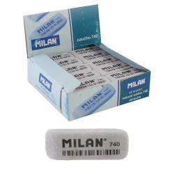 Ластик прямоугольный скошенный 52*19*7 MILAN каучук Milan 740/973185 серый