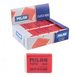 Ластик прямоугольный 40*26*10 Nata пластик Milan 624/973215