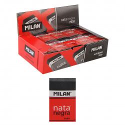 Ластик прямоугольный 39*24*9 Nata каучук держатель картон Milan 7030/973221 черный
