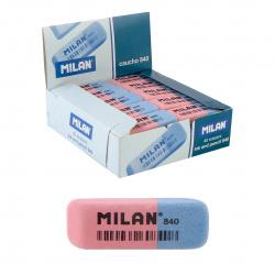 Ластик прямоугольный скошенный 54*19*8 MILAN каучук Milan 840/973188 красный/синий