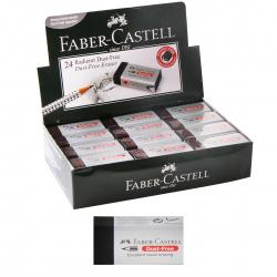 Ластик прямоугольный 45*20*10 каучук держатель картон Faber-Castell 187171черный