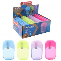 Точилка пластиковая 1 отверстие 10*26мм Unity Neon Erich Krause 38013 ассорти 4 вида
