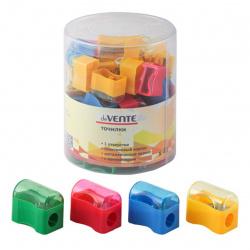 Точилка пластиковая 1 отверстие 20*35мм контейнер deVENTE 4071311 ассорти 4 вида
