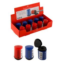Точилка пластиковая 1 отверстие 25*35мм контейнер Grip 2001 Mini Faber-Castell 183710 ассорти