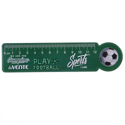 Линейка 15см пластиковая фигурная deVENTE Champions Football 5091027