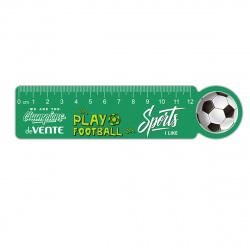 Линейка 12см пластиковая фигурная deVENTE Champions Football 5091027