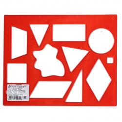 Трафарет пластиковый Луч Геометрические фигуры №2 12С 837-08 тонированный