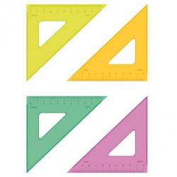 Треугольник 30*100 пластиковый Стамм Neon ТК23 ассорти 3 цвета