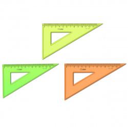 Треугольник 30*130 пластиковый Стамм ТК33 тонированный ассорти 4 цвета