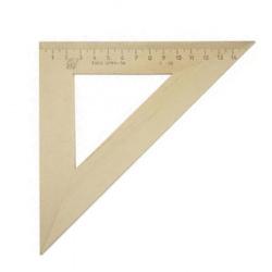 Треугольник 45*160 деревянный Красная звезда С-16