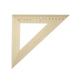 Треугольник 45*180 деревянный Красная звезда С-15