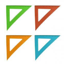 Треугольник пластик, 45 градусов, 16см, ассорти 4 вида, цвет ассорти Проф-Пресс Л-6207