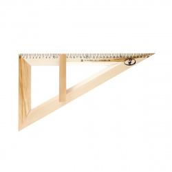 Треугольник для классной доски 30°, 40см деревянный Красная звезда С364