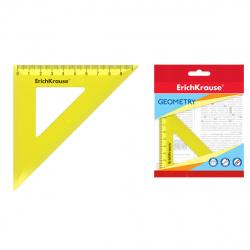 Треугольник 45*100 пластиковый Erich Krause Neon 49548 тонированный желтый