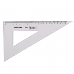 Треугольник 60*225 пластиковый Erich Krause Clear 41519
