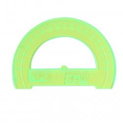 Транспортир 180гр 12см пластиковый Стамм Neon Crystal ТР31 прозрачные ассотри