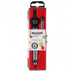 Готовальня 2пр Mazari M-4503 черный пластиковый футляр европодвес