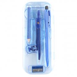 Готовальня 8пр Mazari М-4502 синий пластиковый футляр европодвес