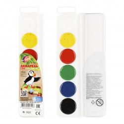 Акварель 6 цветов Луч Zoo медовая без кисти пластиковая коробка 19С 1248-08