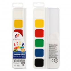 Акварель 6 цветов Луч Классика медовая без кисти пластиковая коробка 19C 1282-08