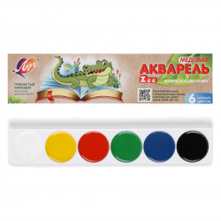 Акварель 6 цветов Луч Zoo медовая без кисти картонная коробка 19С 1246-08
