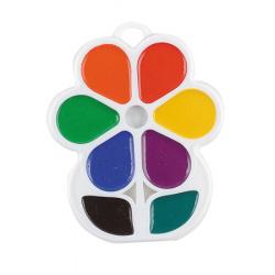 Акварель 8 цветов Луч Кроха Цветочек медовая без кисти пластиковая коробка европодвес 18C 1183-08