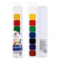 Акварель 8 цветов Луч Классика медовая без кисти пластиковая коробка европодвес 19С 1284-08