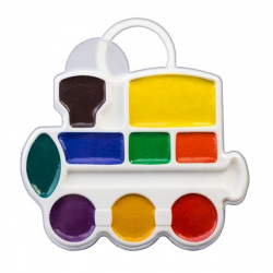 Акварель 9 цветов Луч Паровозик медовая без кисти пластиковая коробка европодвес 11C 683