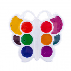 Акварель 10 цветов Луч Бабочка медовая без кисточки пластиковая коробка европодвес 10С 548-08