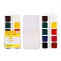 Акварель 10 цветов Гамма Юный художник медовая без кисти пластиковая коробка европодвес 212072