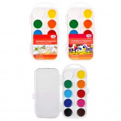Акварель 10 цветов Гамма увлечений Детская акварель медовая без кисти пластиковая коробка европодвес 8074505/ДАКП10