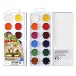 Акварель 12 цветов Луч Zoo медовая без кисти пластиковая коробка 19С 1249-08