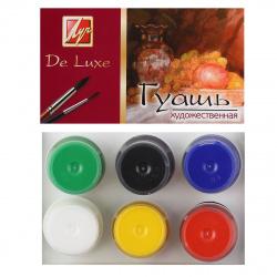 Гуашь 6 цветов 20мл Луч Люкс картонная коробка 14С 1037-08