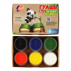 Гуашь 6 цветов 15мл Луч Zoo картонная коробка 19С 1251-08