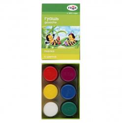 Гуашь 6 цветов 20мл Гамма Пчелка картонная коробка 221014_6