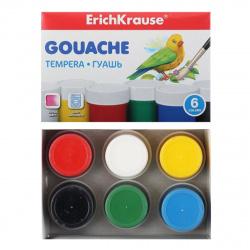 Гуашь 6 цветов 20мл Erich Krause картонная коробка 50535