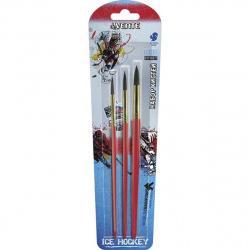 Набор кистей 3шт (Белка круглые №1,3,6) Ice Hockey deVENTE 8072006
