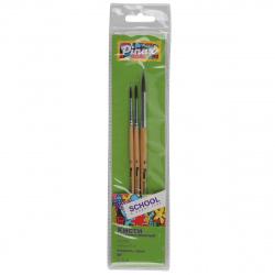 Набор кистей 3шт (Пони круглые №2,3,5) School&Hobby Pinax 529993