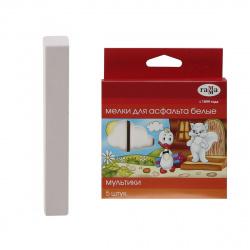 Мел белый 5шт d-20мм Гамма Мультики 2304192 для асфальта картонная коробка европодвес