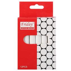 Мел белый 12шт d-10мм круглый КОКОС FRIDAY 170395/V181/1 картонная коробка